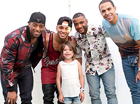 Tilly with JLS